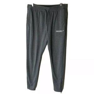 Gymshark Jogger Pants Size Medium Ankle Zip Pockets Drawstring Gray
